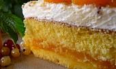 Mandarinkovo-šlehačkový dortík