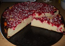 Tvarohový koláč s ovocem ( tentokrát s rybízem)
