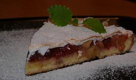 Rebarborovo švestkový koláč