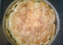 Slaný koláč z listového těsta
