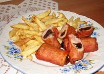 Adélčiny roládky se švestkama a anglickou slaninou