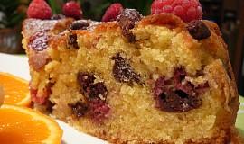 Křupavý malinový koláč