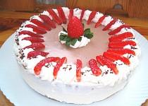 Jahodový tvarohový dortík