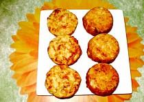 Bramborové muffiny se dvěma sýry