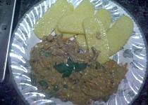 Zeleninovo-houbová omáčka s polentou