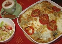 Italské lasagne s listovým špenátem, mozzarellou a parmazánem