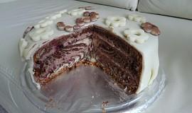 Mramorový dort s čokoládovým krémem