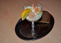 Salát s krabem a krevetami