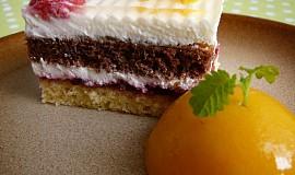 Svěží dvoubarevné dortíky