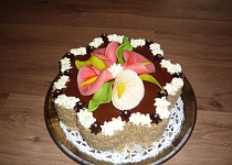 Ořechový dort 12 vajec
