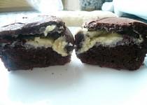 Čokoládové muffiny s frischkäse náplní