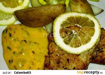 Nilský okoun na tymiánu s citronovou omáčkou