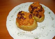 Pečené brambory plněné Chilli Con Carne