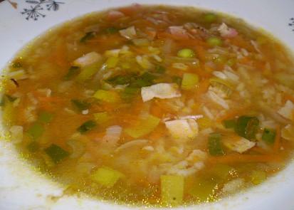 polívčička ze zbylé rýže-rychlá