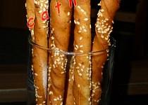 Sezamovo - sýrové tyčky