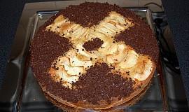 Lehký ovocný koláč s čokoládou