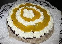 Čokoládovo-pomerančový dort