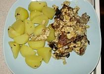 Vepřové s houbami a smetanou
