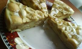 Nepečený dort z pudinku a piškotů