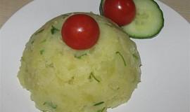 Šťouchané brambory s pažitkou