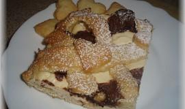 Tvarohový linecký koláč s nutelovým krémem