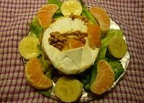 Hermelín plněný mandarinkou a banánem