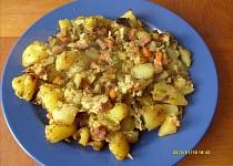 Zapékané brambory s uzeninou