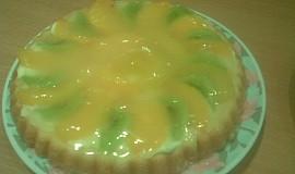 Piškotový ovocný dortík