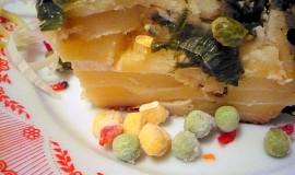 Brambory zapečené s pórkem a zeleninou