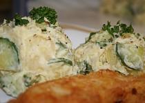 Lehký (neboli snadný) bramborový salátek