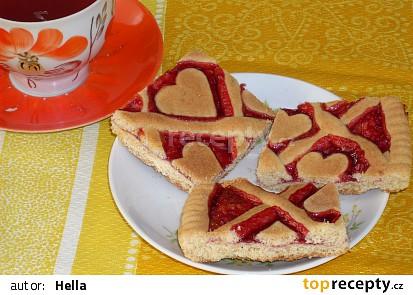 Mřížkový koláč na plech