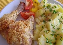 Kuřecí stehna se sýrem