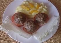 Pečená rajčata s masem