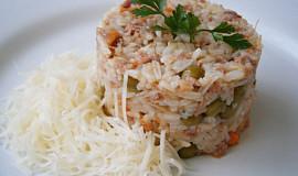 Pečené rizoto z vařené slepice