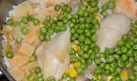 Paella s tykví a kuřecími stehýnky