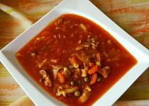 Rajčatová, trochu minestrone