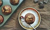 Extra čokoládové veganské muffiny