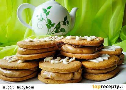 Kávové sušenky s kávovým krémem