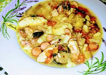 Kuřecí přesnídávková polévka s uzeným (husťačka)