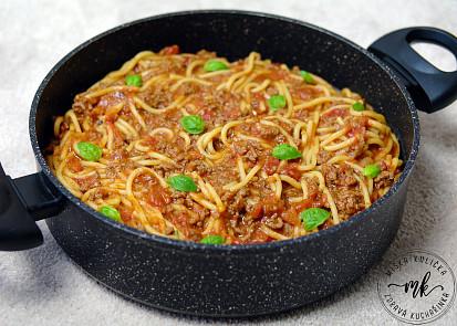 spagety z jednoho hrnce