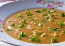 Celerovo-chlebová polévka s kapáním