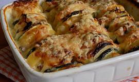 Zapečené naskládané brambory