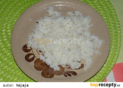 Ryža po uvarení, 1 porcia = 189 g.