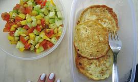 Bleskové lowcarb placky se salátem