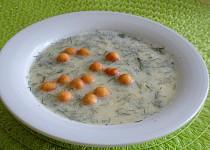 Krémová fazolková polévka s tvarohem