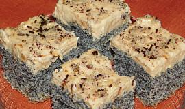 Makové řezy s karamelovým krémem