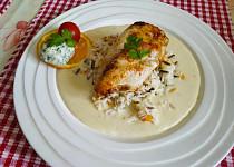 Kuřecí prsa s omáčkou a rýží