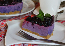 Nepečený borůvkový dortík