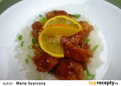 Pomerančové kuřecí kousky