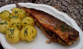 Ryba hříbky plněná, na másle smažená